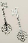 Висулка метална ключ 68x20x2 мм цвят сребро -4 броя