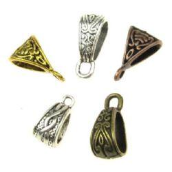 Margele Figurină metalică cu inel 14 ~ 15x7 ~ 10x6.5 ~ 9mm Gură 1.5mm Culoare MIX -10 piese