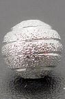 Топче метално с релеф 8 мм дупка 2 мм цвят бял -5 броя