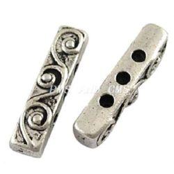 Разделител метал 18x4x5 мм дупка 1.5 мм цвят сребро -10 броя
