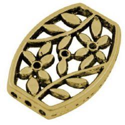 Разделител метал 26x19x3.5 мм дупка 1.5 мм цвят старо злато -2 броя