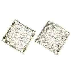 Разделител метал плочка 32x32x6 мм дупка 1 мм цвят сребро