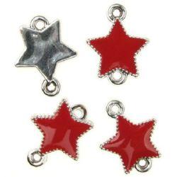 Свързващ елемент CCB звезда 20x15x3 мм червена -10 броя