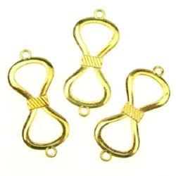 Element de legătură  funda 37x17 mm gaură 2 mm culoare auriu -9,80 grame -5 bucăți