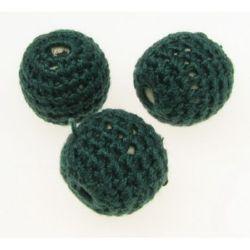 Bilă îmbrăcată cu material textil 20 mm 2 mm verde -5 buc