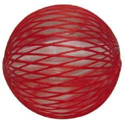 Ball clad in nylon red 15 mm hole 2 mm - 6 pieces