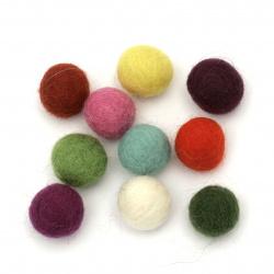 Handmade Woolen Felt Ball, 25mm 1 piece
