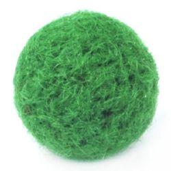 Bilă de feltru verde de 24 mm