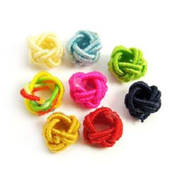 Cord bead for handmade home decor projects 6x5 mm assorted colors - 10 pieces