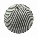 Ball covered with textile 20 mm hole 4 mm white and gray