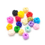 Cord bead for DIY accessories making 6x7 mm assorted colors - 10 pieces