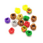 Cord bead for jewelry making 7 mm assorted colors - 10 pieces