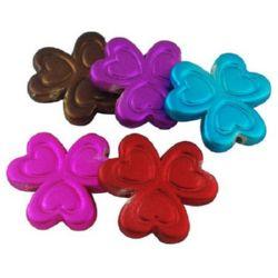 Margele cauciuc Floare 26x26x4.5mm Gaură 2mm Culoare -50g ~ 23buc