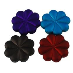 Rubber coated flower bead 23X5 mm color - 50 g