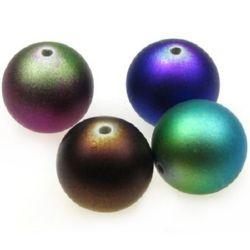 Margele acoperită cu cauciuc 25,5 mm gaură 3 mm culoare -50 g ~ 5 bucăți