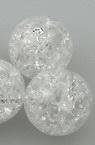 Мънисто кракъл топче 12 мм дупка 3 мм бяло -20 грама ~19 броя