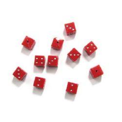 Зар 10 мм имитация камъчета червен -50 гр ± 47 броя