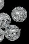 Χάντρα απομίμηση κρύσταλλο 10mm τρύπα 2mm λευκό -20 γραμμάρια ~ 35 τεμάχια