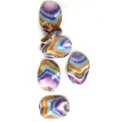 Margele pictate culoare 98 38x28 mm -3 bucăți -15 grame
