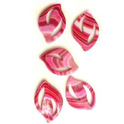 Plastic Painted Beads, color 96 for DIY making accessories and jewelry 47x32 mm - 3 pieces - 12 grams