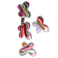 Margele pictate culoare67 45x34 mm -2 bucăți -13 grame