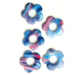 Margele pictate culoare151 3 mm -4 bucăți -11 grame