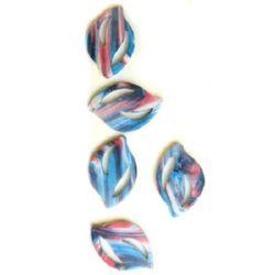 Мъниста рисувани цвят151 47x32 мм -3 броя -12 грама