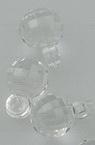 Χάντρα απομίμηση κρύσταλλο 7 mm τρύπα 2 mm διαφανές - 50 γραμμάρια ~ 220 τεμάχια