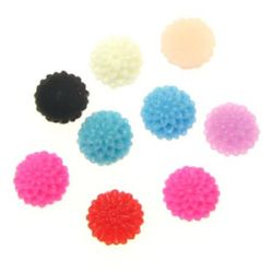 Opaque flower bead for gluing cabochon type 6 mm color - 10 pieces