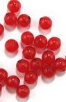 Χάντρα απομίμηση ζελέ στρογγυλή 8 mm τρύπα 1,5 mm κόκκινο -50 γραμμάρια ~ 250 τεμάχια