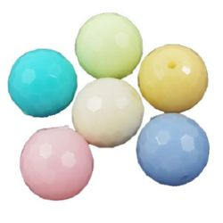 Beads imitation jelly ball 12 mm hole 2 mm MIX -50 grams ~ 50 pieces