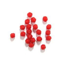 Imitație  mărgele jeleu trandafir 12x12 mm gaură 2 mm roșu -50 grame ~ 83 bucăți