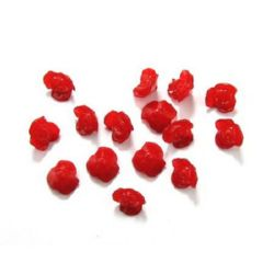 Acrylic beads imitation jelly rose 16x8 mm hole 2 mm red - 50 grams ~ 71 pieces