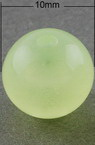 Beads imitation jelly ball 10 mm hole 2 mm green light - 20 grams ± 37 pieces