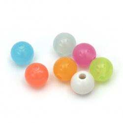 Мънисто имитация желе топче 8 мм дупка 1.5 мм микс -50 грама ~ 180 броя