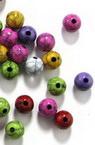 Мънисто имитация тюркоаз топче 8 мм дупка 2 мм микс -50 грама ~ 170 броя