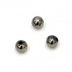 Мънисто имитация хематит топче 6 мм дупка 1.5 мм -20 грама ±185 броя