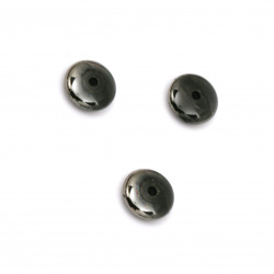 Мънисто имитация хематит диск 8x3 мм дупка 1 мм -20 грама ~190 броя