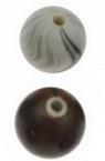 Χάντρα απομίμηση fimo στρογγυλή 12 mm τρύπα 3 mm μιξ -50 γραμμάρια συσκευασία  ~ 53 τεμάχια