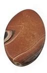 Imitație  margele fimo ovală 34x24x7 mm gaură 3 mm mix -50 grame ~ 13 bucăți
