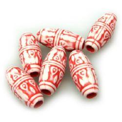Cilindru gaură 22x10 mm 3,5 mm roșu -50 grame