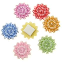 Floare 21 mm gaură 11x11 mm colorată -50 grame