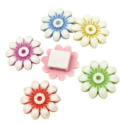 Margele floare  20x7 mm gaură 7x2 mm MIX -50 grame ~ 52 bucăți