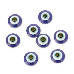 Eye blue hemisphere 12x5 mm for gluing -20 pieces