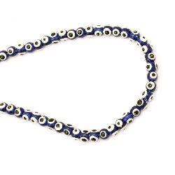 Evil eye, Plastic, Beads, Round, 6x5mm, 50pcs