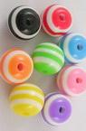 Топче 10 мм дупка 2 мм резин цветно -50 броя