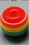 Σφαίρα ρητίνη 8x7 mm τρύπα 2 mm πολύχρωμα -50 τεμάχια