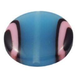 Паричка28x8.5 мм дупка 2 мм синьо цветно -5 броя