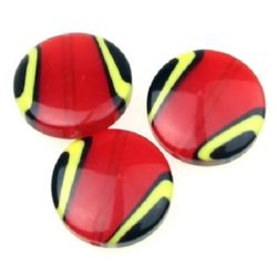 Monedă 28x8,5 mm gaură 2 mm culoare roșie -5 bucăți