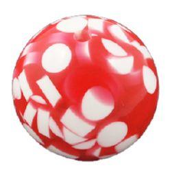 Σφαίρα ρητίνη 20 mm τρύπα 2,5 mm κόκκινο -5 τεμάχια